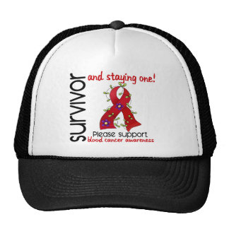 Survivor 9 Blood Cancer Trucker Hat