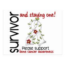 Survivor 9 Bone Cancer Postcard