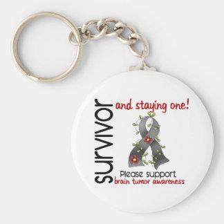 Survivor 9 Brain Tumor Keychain