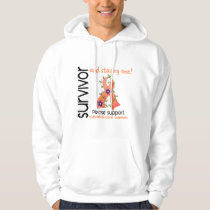 Survivor 9 Endometrial Cancer Hoodie