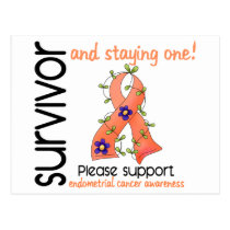 Survivor 9 Endometrial Cancer Postcard