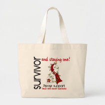 Survivor 9 Head Neck Cancer Large Tote Bag