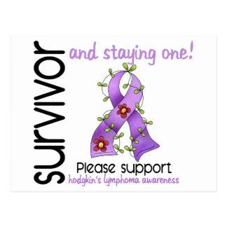 Survivor 9 Hodgkin's Lymphoma Postcard