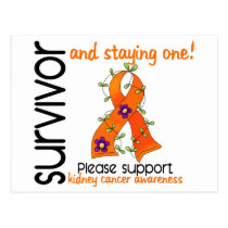 Survivor 9 Kidney Cancer Postcard
