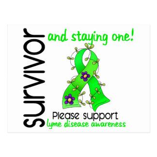 Survivor 9 Lyme Disease Postcard