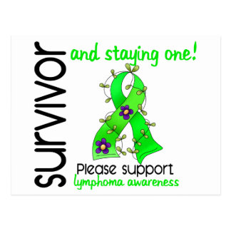 Survivor 9 Lymphoma Postcard