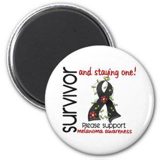 Survivor 9 Melanoma 2 Inch Round Magnet