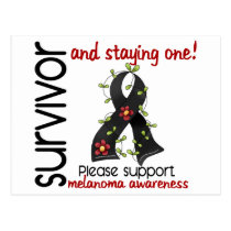 Survivor 9 Melanoma Postcard
