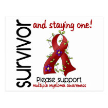 Survivor 9 Multiple Myeloma Postcard