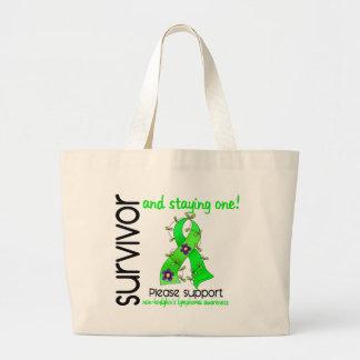 Survivor 9 Non-Hodgkin's Lymphoma Jumbo Tote Bag