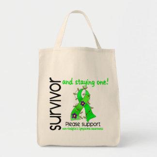 Survivor 9 Non-Hodgkin's Lymphoma Grocery Tote Bag