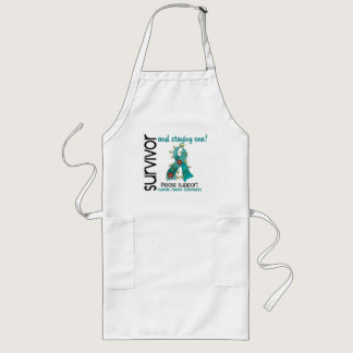 Survivor 9 Ovarian Cancer Long Apron