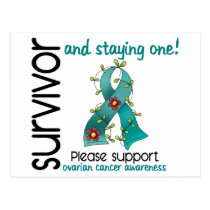 Survivor 9 Ovarian Cancer Postcard
