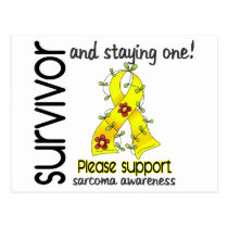 Survivor 9 Sarcoma Postcard