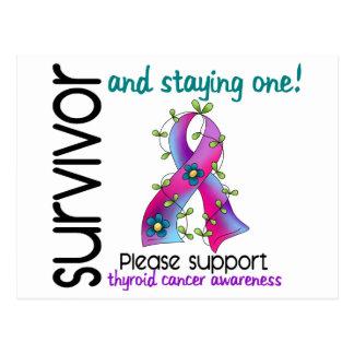 Survivor 9 Thyroid Cancer Post Card