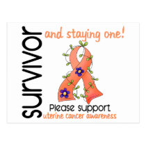 Survivor 9 Uterine Cancer Postcard