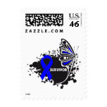 Survivor Abstract Butterfly Anal Cancer Postage Stamp