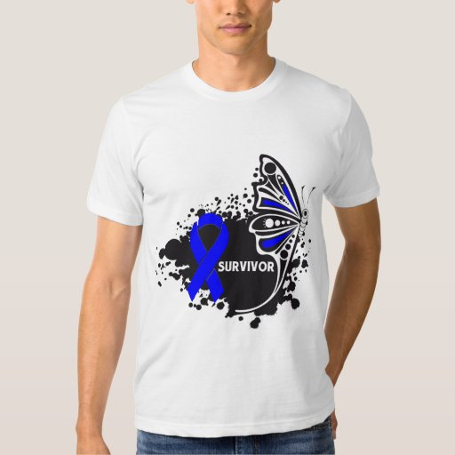 Survivor Abstract Butterfly Anal Cancer Shirt