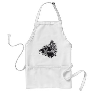 Survivor Abstract Butterfly Brain Cancer Apron