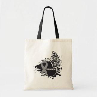 Survivor Abstract Butterfly Brain Cancer Bag