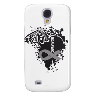 Survivor Abstract Butterfly Brain Cancer Galaxy S4 Cases