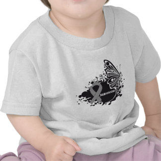 Survivor Abstract Butterfly Brain Cancer Tshirts