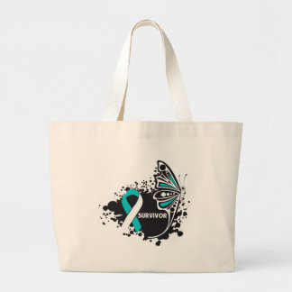 Survivor Abstract Butterfly Cervical Cancer Bags