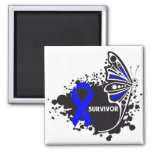 Survivor Abstract Butterfly Colon Cancer Magnet