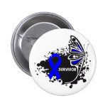 Survivor Abstract Butterfly Colon Cancer Pin