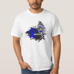 Survivor Abstract Butterfly Colon Cancer Shirts