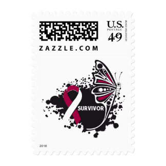 Survivor Abstract Butterfly Head and Neck Cancer Stamps