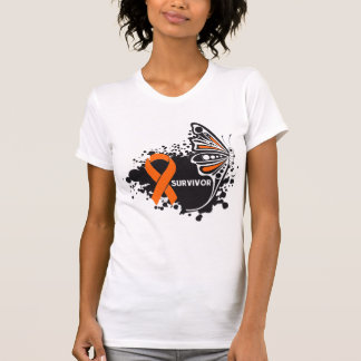 Survivor Abstract Butterfly Kidney Cancer Tee Shirts