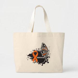 Survivor Abstract Butterfly Leukemia Canvas Bags