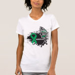 Survivor Abstract Butterfly Liver Cancer T-shirts