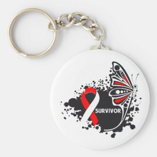Survivor Abstract Butterfly Oral Cancer Key Chains
