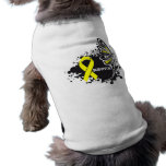 Survivor Abstract Butterfly Sarcoma Cancer Pet T Shirt