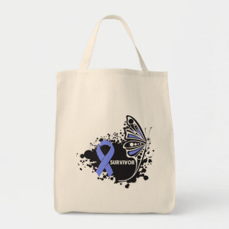 Survivor Abstract Butterfly Stomach Cancer Tote Bag
