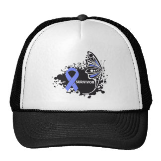 Survivor Abstract Butterfly Stomach Cancer Trucker Hat