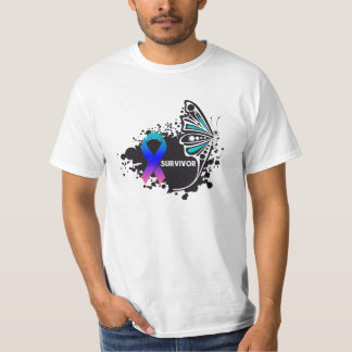 Survivor Abstract Butterfly Thyroid Cancer T-Shirt