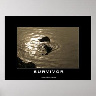 SURVIVOR Bald Eagle Motivational Poster