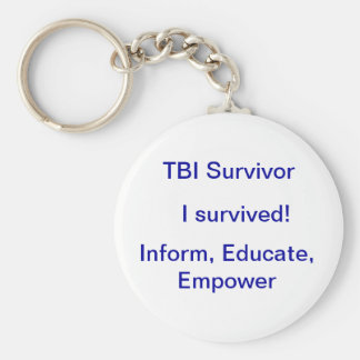 Survivor Basic Round Button Keychain