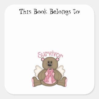 Survivor (bear) square sticker