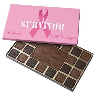 Survivor Breast Cancer Awareness | Custom 45 Piece Box Of Chocolates
