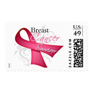 Survivor - Breast Cancer Postage Stamp