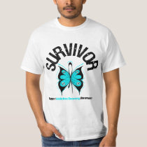 SURVIVOR Butterfly Addiction Recovery T-Shirt