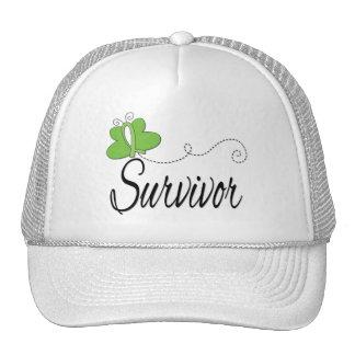 Survivor Butterfly Ribbon Non-Hodgkin's Lymphoma Mesh Hats