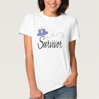 Survivor Butterfly Ribbon Stomach Cancer T Shirt