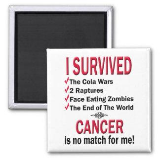 Survivor - Cancer No Match Fridge Magnets