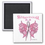 Survivor Celtic Butterfly - Breast Cancer Fridge Magnets