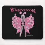 Survivor Celtic Butterfly - Breast Cancer Mouse Pad